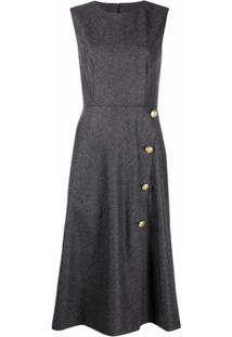 Boutique Moschino Vestido Evasê Sem Mangas - Cinza
