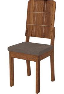 Cadeira Dama 2 Peças - Pena Marrom - Rústico Terrara
