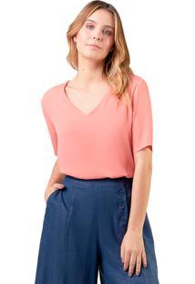 Blusa Mx Fashion Crepe Constance Laranja