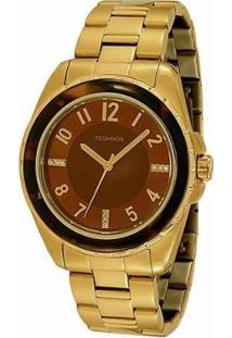 Relógio Technos Elegance Star 2035Bbj/4M Feminino - Feminino-Dourado