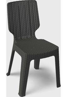 Cadeira Para Área Externa Rattan Ii Marrom Ketter