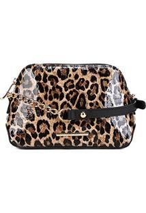 bb3581747 ... Bolsa Couro Jorge Bischoff Mini Bag Verniz Feminina - Feminino-Marrom