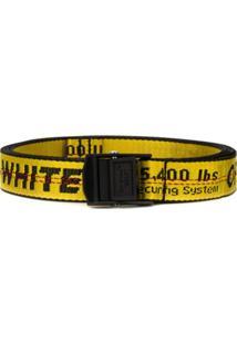 Off-White Cinto Com Logo Industrial - Amarelo