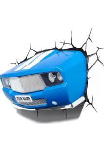 Luminaria 3D Light Fx Carro Classico Cama Carro Do Brasil Azul