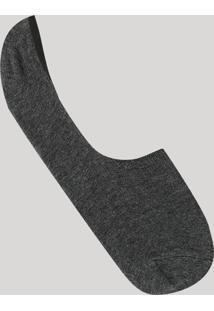 Meia Invisível Cinza Mescla Escuro - Único