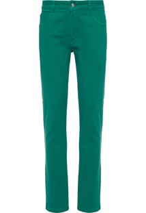 Calça Masculina 5 Pockets Colorida Denim - Verde