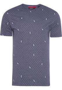 Camiseta Masculina Poá Pica Pau - Azul Marinho