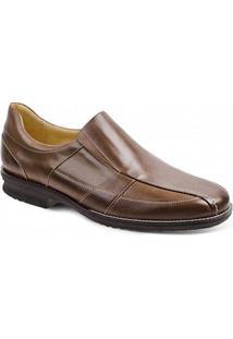 Sapato Social Masculino Side Gore Sandro Moscoloni Chuck Marrom Claro