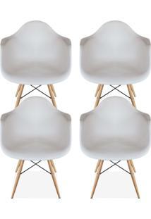 Kit 04 Cadeiras Decorativas Lyam Decor Melbourne Branco. - Tricae