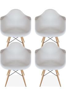Kit 04 Cadeiras Decorativas Lyam Decor Melbourne Branco