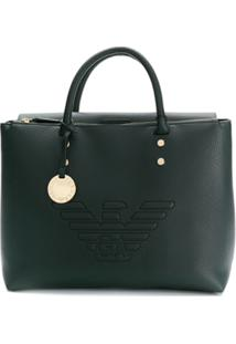 Emporio Armani Raised Logo Tote Bag - Verde