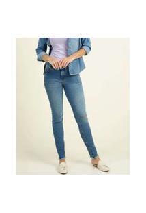 Calça Jeans Destroyed Feminina Skinny Marisa