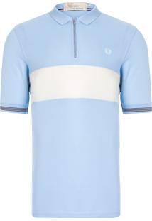 Camisa Textured Panel - Azul