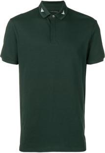 Emporio Armani Camisa Polo Com Logo - Green