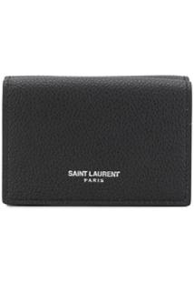 Saint Laurent Carteira Com Logo - Preto