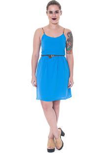Vestido Curto As Filhas Da Mãe Azul Celeste