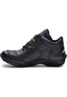 Tenis Motociclista Atronshoes - 401 - Preta/Verde