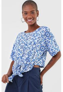 Camiseta Lança Perfume Amarração Azul