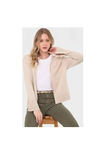 Cardigan Tricot Mob Liso Bege