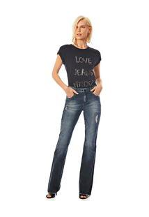 Calca Boot Cut Carol Cos Intermediario Reserva Lateral Jeans