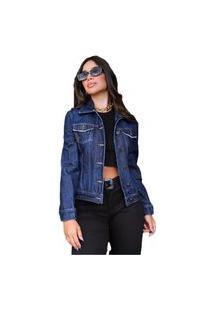 Jaqueta Consciência Jeans Rider Azul Marinho