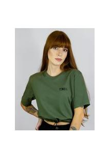Camiseta Cropped Toneh Regulador Verde Verde