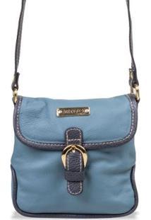 Bolsa Artlux Transversal - Feminino-Marinho+Azul