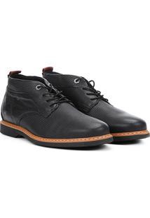 Sapato Casual West Coast Kirk Masculina - Masculino-Preto