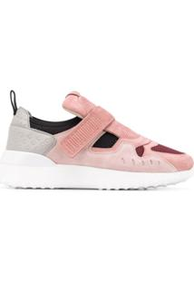 Tod'S Touch Strap Low-Top Sneakers - Rosa