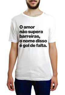 Camiseta Hunter O Amor Não Supera Barreiras Branca