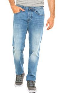Calça Jeans Benetton Reta Estonada Azul