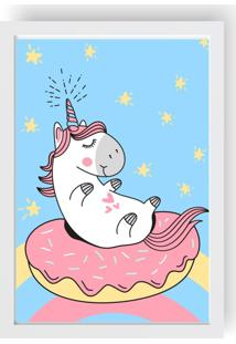 Quadro Love Decor Decorativo Infantil Unicorn Cute