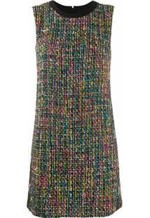 Versace Jeans Couture Vestido Reto De Tweed - Preto