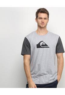 Camiseta Quiksilver M And W Bicolor Masculina - Masculino-Mescla