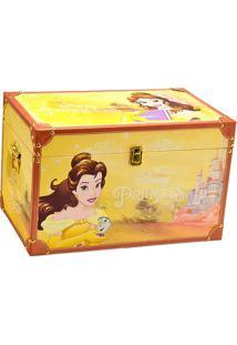 Baú Princesa Bela®- Amarelo & Marrom Claro- 32X50X32Mabruk