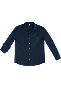 Camisa Básica Masculina Mangas Longas Em Tecido