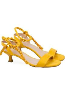 Sandálias Saltare Adelia Feminina - Feminino-Amarelo