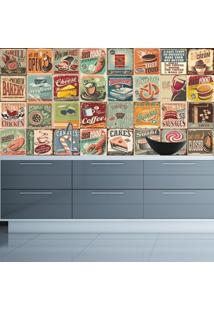 Adesivo De Parede Cozinha Estampa Azulejo Morando Sozinha