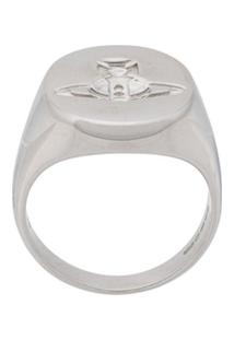 Vivienne Westwood Embossed Logo Ring - Prateado