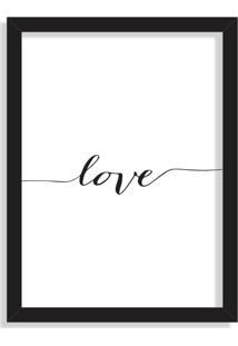 Quadro Decorativo Love Preto - Grande