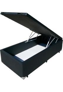 Cama Bau De Solteiro Probox Corino Preto