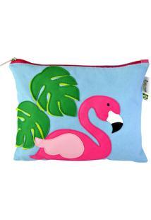 Clutch Do Flamingo Azul Mumagi