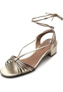 Sandália Dafiti Shoes Amarração Prata