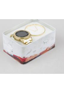 Kit De Relógio Digital Condor Feminino + Pulseira - Cobj3463Aak4D Dourado