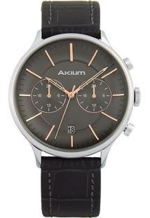 Relógio Akium Masculino Couro Preto - Rose-03E52Gl01
