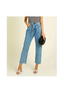 Calça Jeans Reta Feminina Amarração Marisa