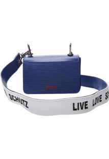 Bolsa Clutch Listrada- Azul Escuroschutz