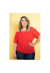 Blusa Big Vermelho Paixão Plus Size Domenica Solazzo 52 Domenica Solazzo Blusas Vermelho