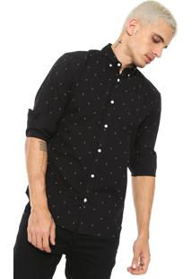 Camisa Jack & Jones Slim Estampada Preta