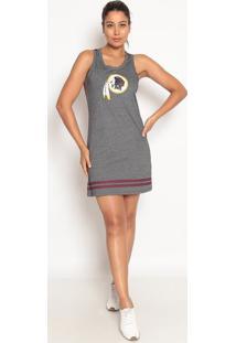 Vestido Redskinsâ®- Cinza Escuro & Vinho- New Eranew Era
